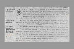 [519] Prospectus facsimile 19th Century 2